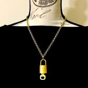 Louis Vuitton Padlock and Key Necklace